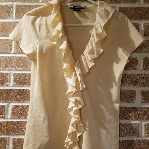 Ralph Lauren Sport womens ruffle blouse